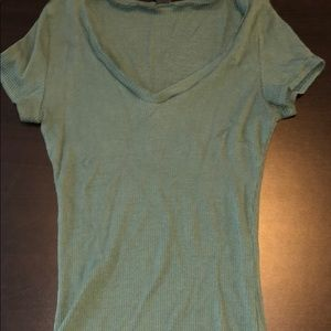 Olive green short sleeve tight top